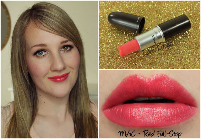 MAC Red Full-Stop lipstick swatch