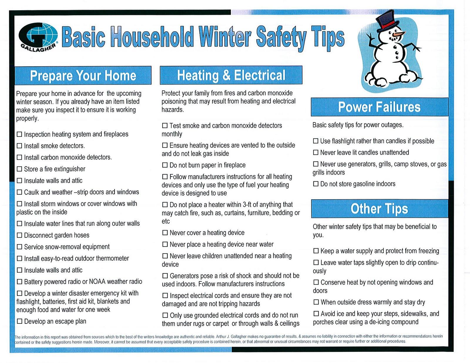 Acm Blog Basic Household Winter Safety Tips From Arthur J