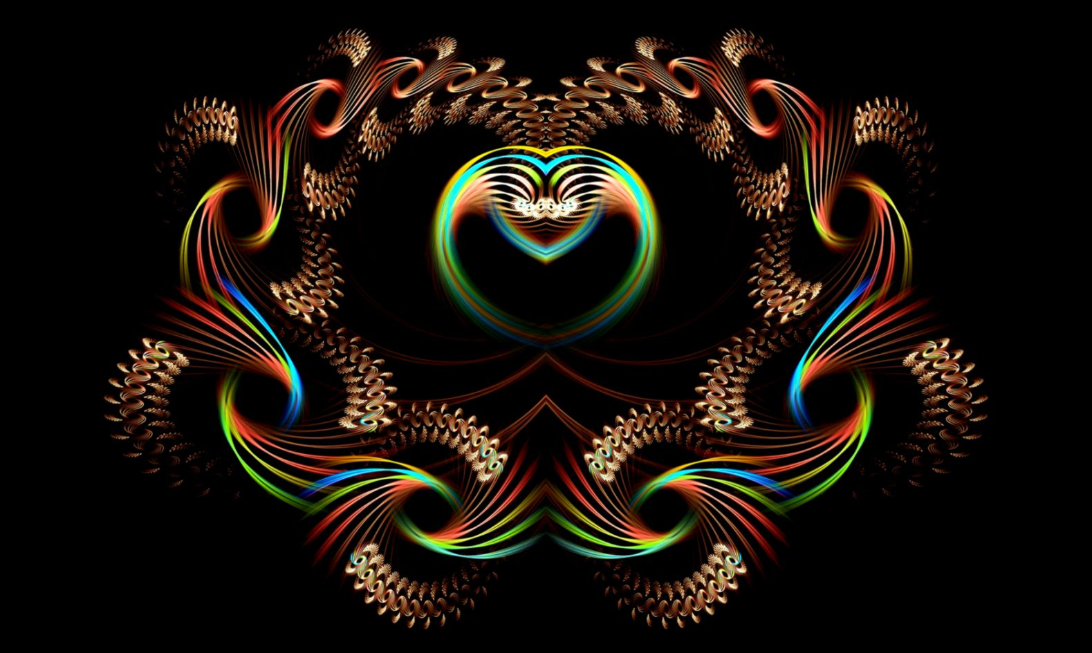 Abstract Fire Love Hearts All HD Wallpapers