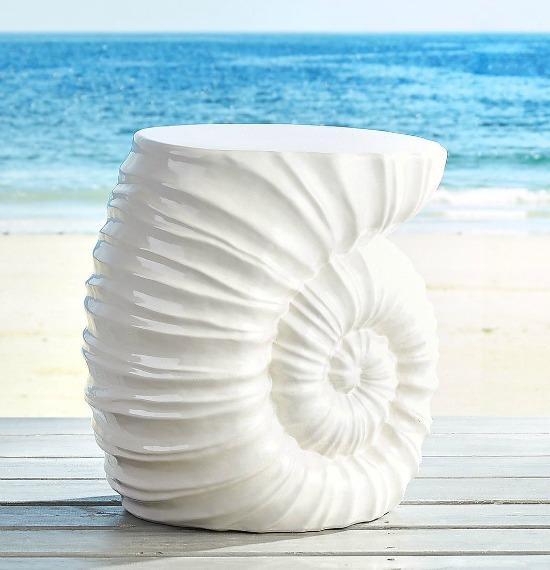 Shell Garden Stool