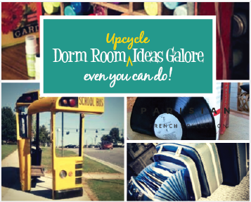 Creative Upcycling for Dorm Room Decor