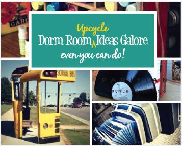 Creative Upcycling for Dorm Room Decor