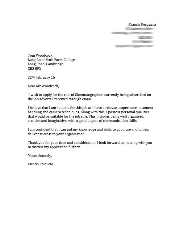 unit cover letter
