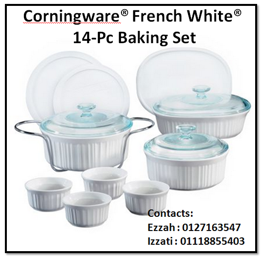 Teratai Dish Collections Corningware 174 French White 174