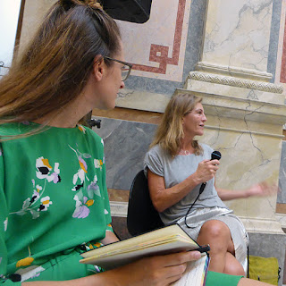 "Nadja Schmidt, Claudia Schumann, Symposium ""Hingabe"", More Ohr Less 2018 / photo S. Mazars"