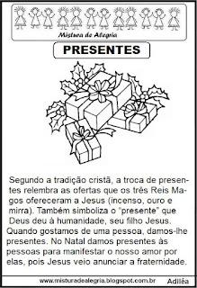 Texto sobre presentes natal