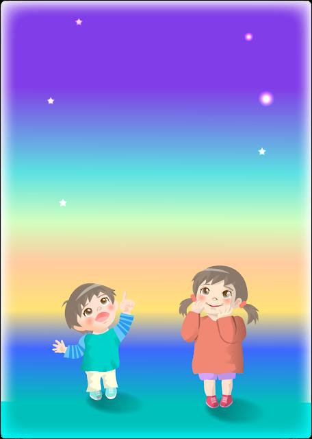 七夕の子供のイラスト