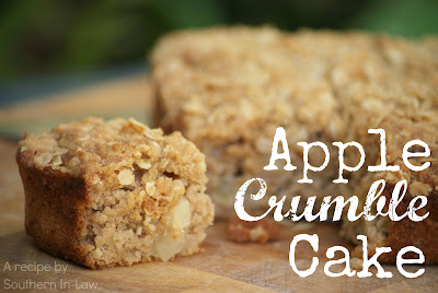 Healthy Apple Crumble Cake - gluten free, low fat
