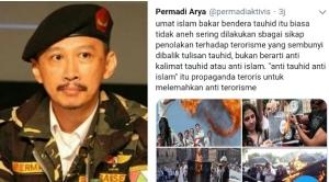 Abu Janda Sebut Bakar Bendera Tauhid Hal Biasa, Netizen: Coba Mas yang Bakar, Ditunggu Videonya