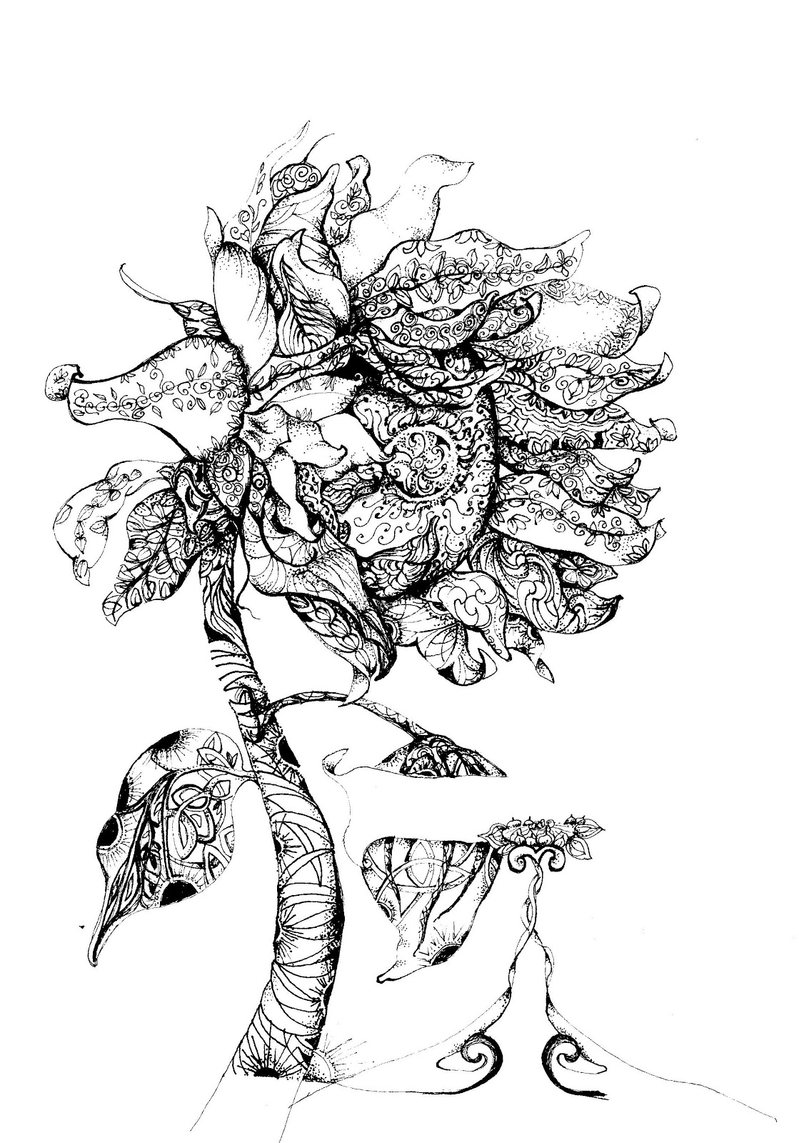 Botanical Illustration Legacy Techniques And Zentangle