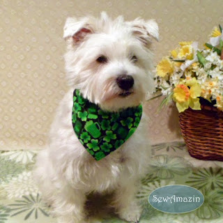 Shamrocks, Pitchers and Pints St Patricks Day Dog Bandana