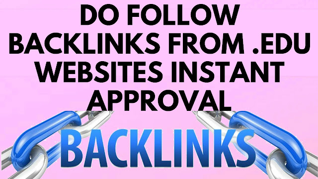 Instant approval free do follow comment & profile backlinks from .edu websites 2019 (Hindi)