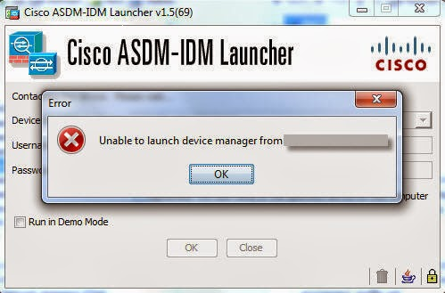 ThinGs-on-E: Cisco ASA ASDM unable to launch device manager