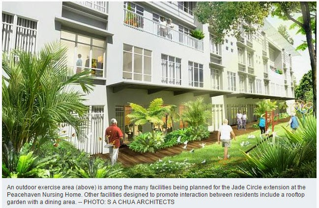 Jade Circle, a $15 million extension to the Salvation Army's Peacehaven home at Changi, will offer a cosier set-up than the typical ward setting.