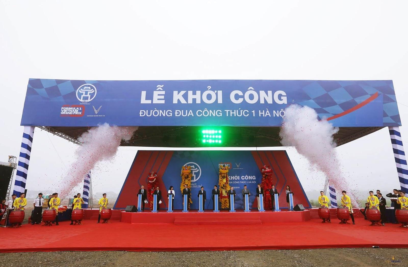 Trực tiếp lễ khởi công đường F1 tại Hà Nội