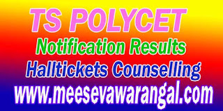 TS POLYCET 2017 Notification  TSPOLYCET Exam 2017  TS POLYCET 2017 Key Dates  TS POLYCET Application Form 2017 TS POLYCET 2017 Fee TS POLYCET 2017 Halltickets   TS POLYCET 2017 Results TS POLYCET 2016Counselling