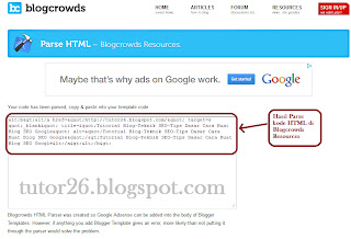 Hasil Parsing Kode HTML di Blogcrowds Resources