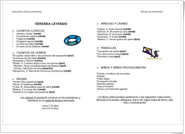 """""""Veranea leyendo 1"""" (Guía de Lectura Infantil de Verano)"""