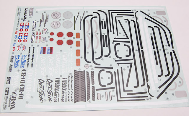 Tamiya CR-01 Toyota Land Cruiser decal sheet
