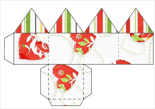 Cajas Vintage de Navidad para Imprimir Gratis.