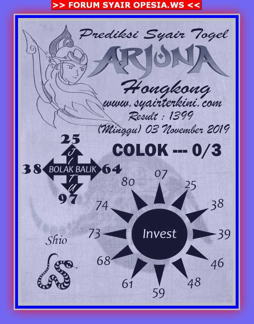 Kode syair Hongkong Minggu 3 November 2019 46