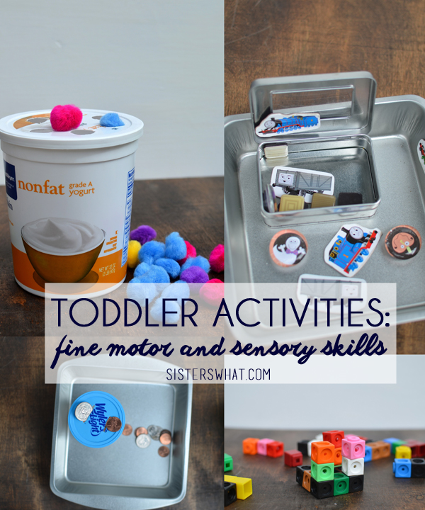 Activities for toddlers that are great for fine motor and sensory skills.