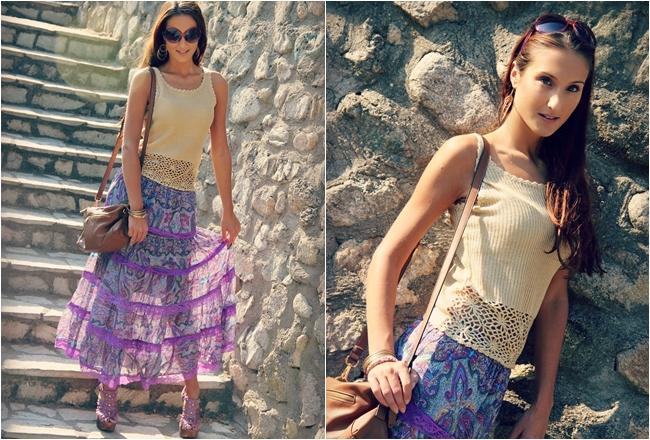 paisley print skirts