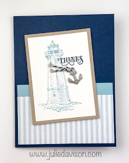 Stampin' Up! Sailing Home Panel Pop-Up Card ~ Come Sail Away Suite ~ www.juliedavison.com #stampinup