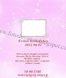 krikstynu saldainiu popieriuku maketas SPK-03