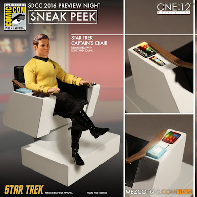 Mezco One:12 Collective Star Trek Captain's Chair with Light and Sound