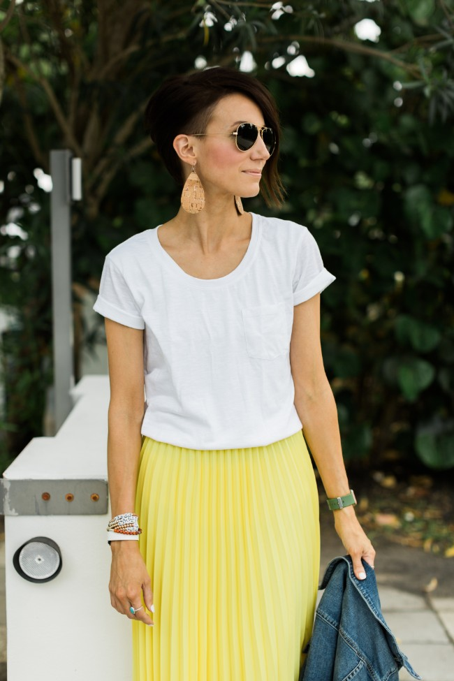 One Little Momma - Yellow skirt for Spring