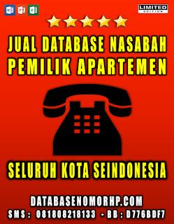 Jual Database Pemilik Apartemen Mewah Seindonesia