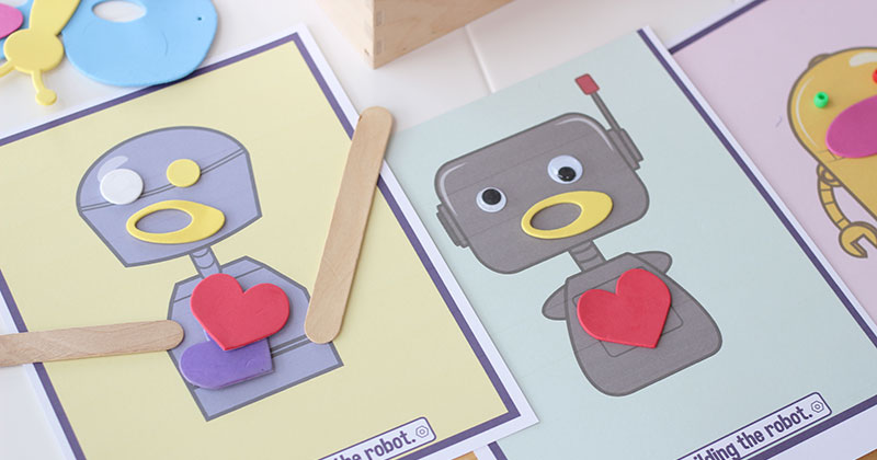picture regarding Robot Printable referred to as No cost Printable Create a Robotic Craft for Small children Sunny Working day Relatives