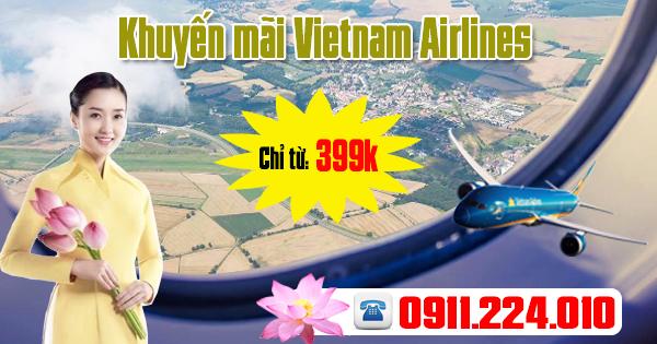 Mua vé máy bay ưu đãi chỉ từ 399k hãng Vietnam Airlines