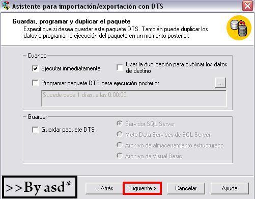 Exportando datos