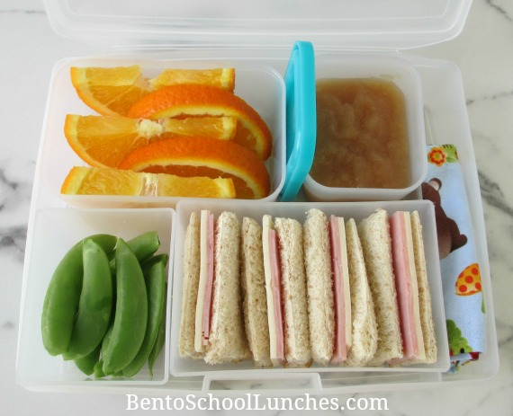 Quick and Easy Ham and Cheese sandwich lunch