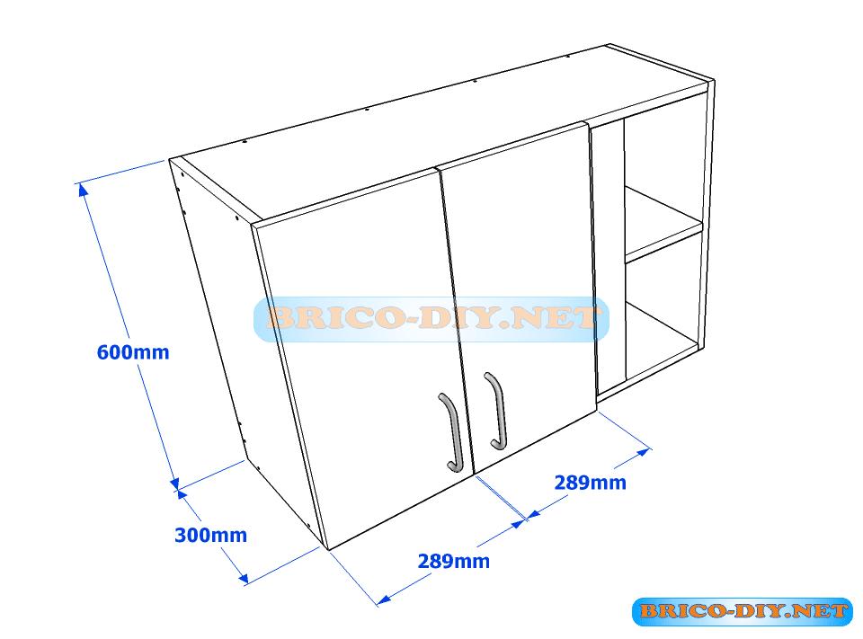 Muebles de cocina plano de alacena de melamina esquinera for Medidas estandar de cajones de cocina