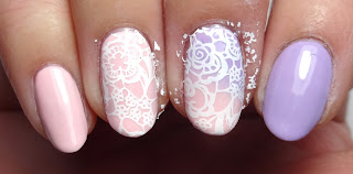 Lace Stamped Nails