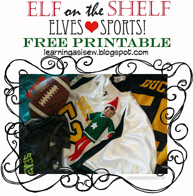Elf on the Shelf Free Printable Sports Jersey Template