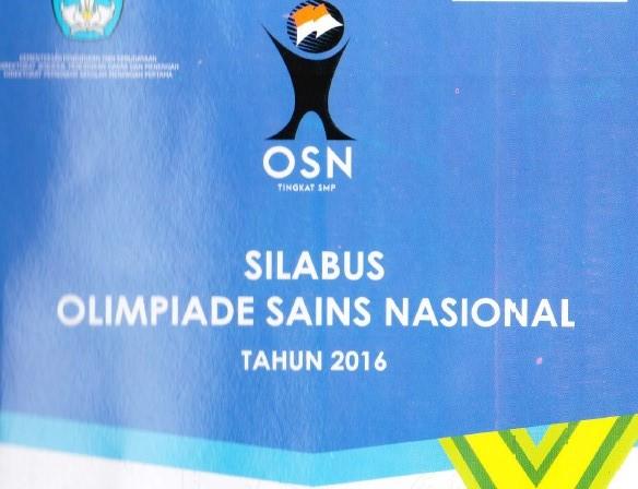 Silabus Olimpiade Sains Indonesia (OSN) Tahun 2016