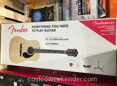 Costco 1244861 - Fender FA-125 Dreadnought Acoustic Guitar Pack: great for any beginner or novice musician