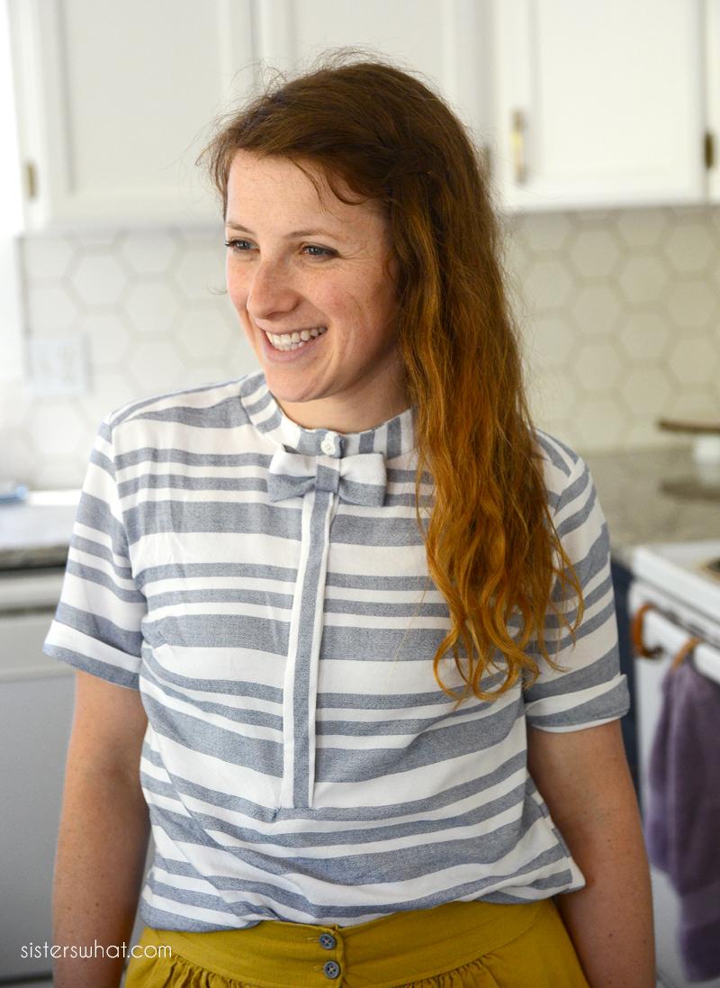 DIY Bow Tie Summer Shirt - Mccall's 7360 Pattern Hack