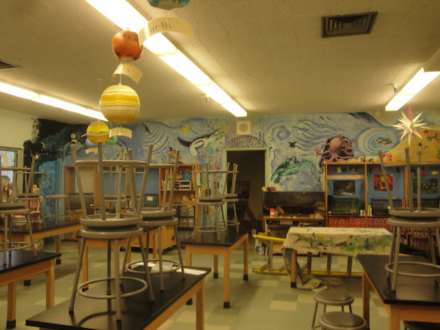 Lois' Art Science Lab Murals