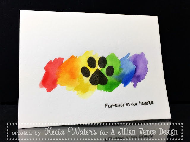 AJVD, Kecia Waters, pet sympathy, Kuretake, watercolors