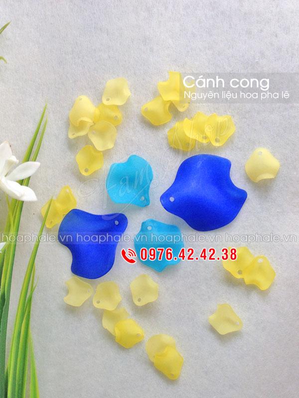 Cánh cong nguyên liệu làm hoa pha lê