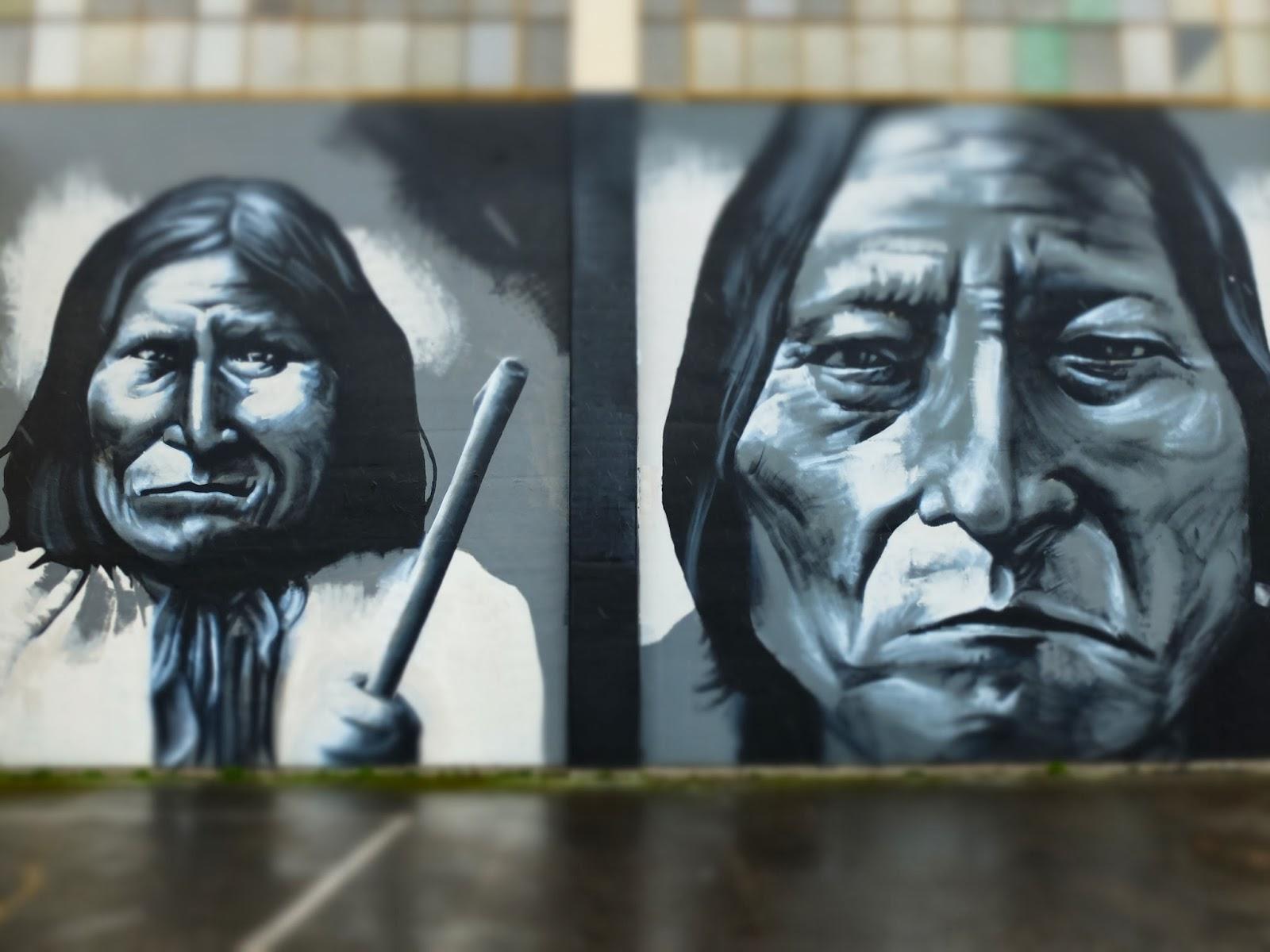 Geronimo and Bitting Bull street art