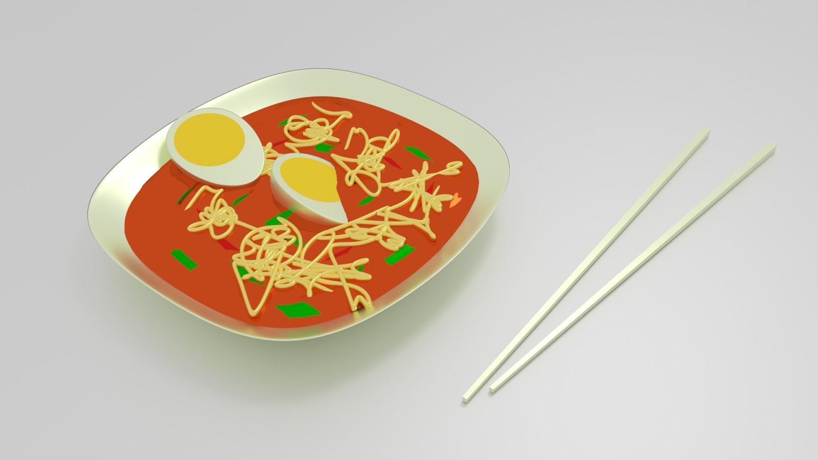 Free 3D Egg Noodles .blend