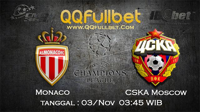PREDIKSI BOLA MONACO VS CSKA MOSKOW 3 NOVEMBER 2016