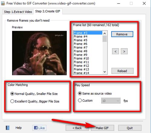 Creare immagini GIF